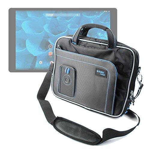 """DURAGADGET Sacoche (Noir/Bleu) de Transport pour QILIVE Q3778, QILIVE MID10.1 V4 et QILIVE Q4 Tablette 10.1"""" - bandoulière Amovible"""