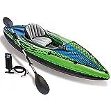 XIAOHUA-UK Kayak con Asiento para Tablas de Remo, Bote de Goma Inflable de PVC, Juego de Bote para 1 Persona con remos + inflador, tamaño: 274X76X33cm