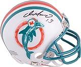Dan Marino Miami Dolphins Autographed Riddell Throwback Mini Helmet - Autographed NFL Mini Helmets