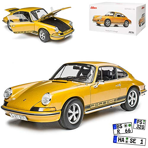 Porsche 911 S Urmodell Coupe Bronze Gold 1963-1973 1/18 Schuco Modell Auto