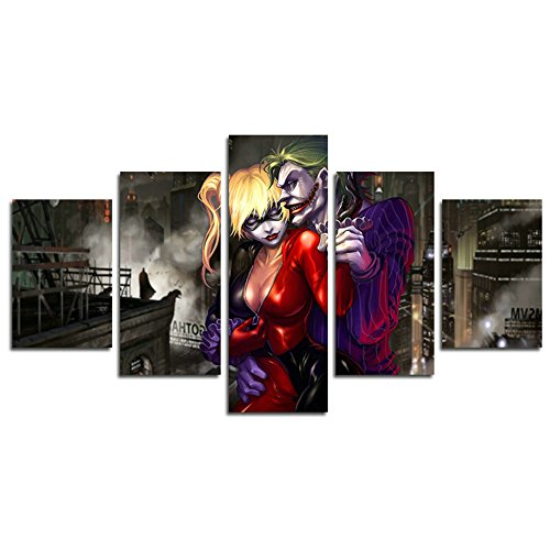 51PFt+84DtL Harley Quinn Canvas Wall Art