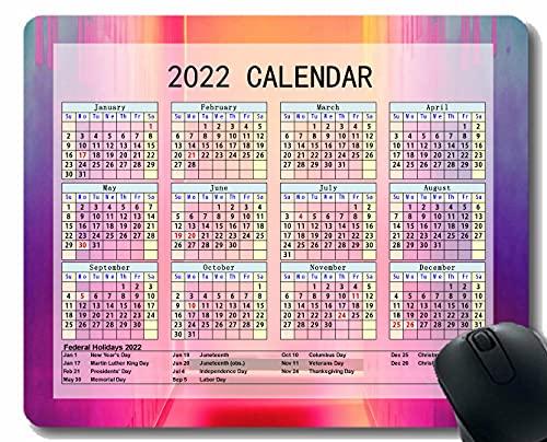2022 Calendario de la Almohadilla de ratón, Luz de Pared Spots Brillantes Personalizada Mouse Pad