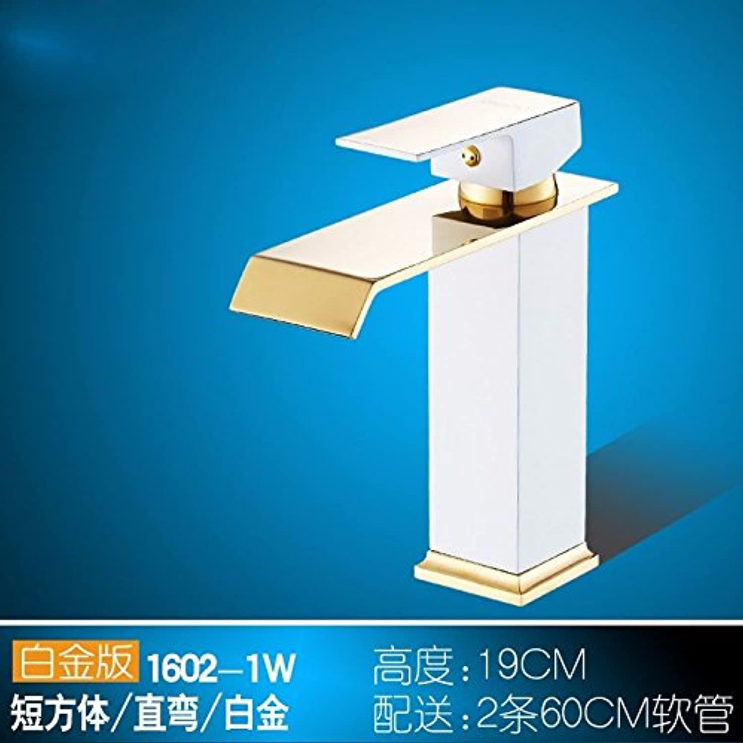 ETERNAL QUALITY Bathroom Sink Basin Tap Brass Mixer Tap Washroom Mixer faucet brass single handle single hole cold-hot sit-in short white Kitchen Sink Taps