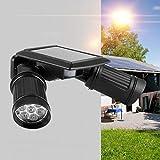 Emoshayoga Automáticamente 14LED Foco Solar de Doble Cabezal Sensor de...