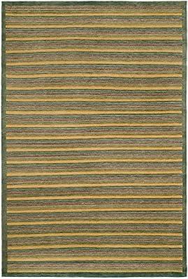Safavieh Tibetan Collection TB358A Hand-Knotted Modern Premium Area Rug, 6' x 9', Green