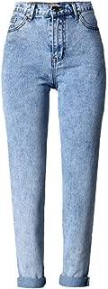 ECHOINE Women's High Waist Boyfriend Loose Fit Straight Leg Jeans Pants