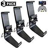 CONNYAM 3 Pack Foldable Mobile Phone Holder Clip for Xbox One Controller, Cellphone Clamp Mount Compatible with Xbox One S, Xbox One X, Steelseries Nimbus, iPhone/Samsung/Sony/LG/Huawei