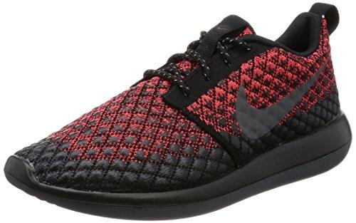 Nike Mens Roshe Two Flyknit 365 Bright Crimson/Dark Grey/Black Running Shoe 10 Men US