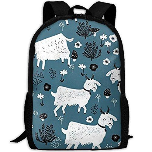 Nieuwe geiten, baby Vieh 3D print, rugzak, college, school, laptoptas, dagrugzak, reizen, schoudertas voor unisex