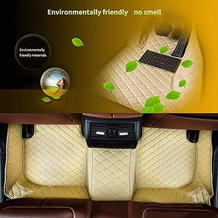 2-Doors Fussmatten Auto 3D Autoteppich f/ür Be nz C Class Coupe 2016-2018 Individuelle Passform Kunstleder wasserdichte 3D Voll Auto Matten Beige 1 Set