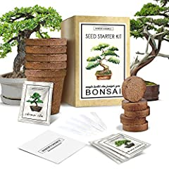 🌱 Starter Indoor Bonsai Tree Kit – The perfect tree garden for beginner green thumbs, this premium gardening set includes five seed packets, ten soil mix pellets, five plant markers, and five biodegradable growing pots. 🌱 Grows 5 Distinct Trees – The...