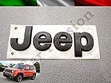 Scritta Stemma Logo Jeep Renegade Cherokee Grand Cherokee Compass Anteriore Originale Nero Opaco Front Badge Emblem