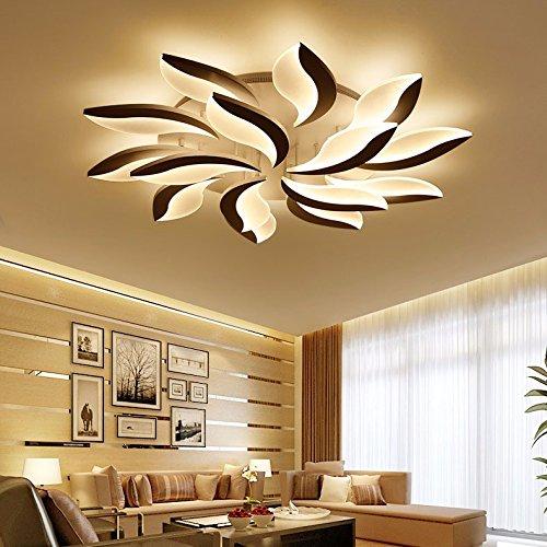 LPLFCeiling Modern simple lampara de salon de originalidad LED de luz de techo con turno estudio dormitorioBueno 108w 12 Iluminación de techo de interior