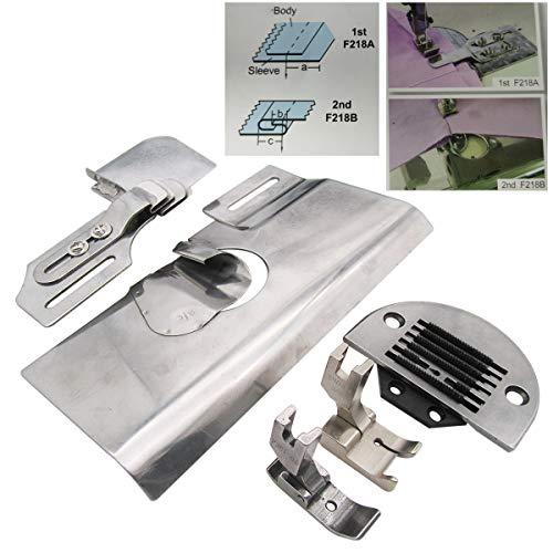 CKPSMS Marca - 1JUEGO # F218 ADJUNTO DE COSTURA DE MANGA DE AGUJA ÚNICA Compatible con máquinas de coser de costura recta JUKI BROTHER (Finish Size 5/16'(8mm))