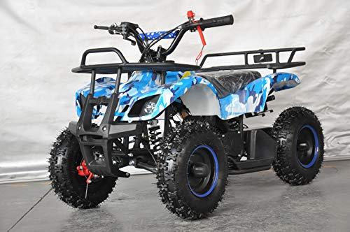 Mini quad infantil Humer camuflaje/mini quad para niños con motor de 49cc 2 tiempos (AZUL)