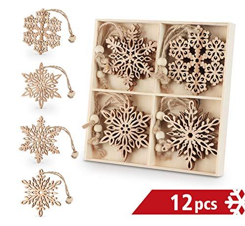 Flocons décoratifs en bois