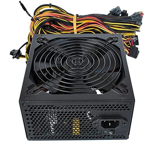 Leoboofe Mining Computer Mining Machine Power Supply Server dedicato con Cavo di Alimentazione 6 schede Server Dedicato Miner Power Supply