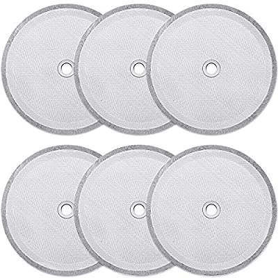 6 Pieces French Press Replacement Filters Mesh Filters Replacement 4 Inch Stainless Steel French Press Replacement Screen for 1000 ml, 34 Oz, 8 Cup French Press Coffee Makers and Tea Machines