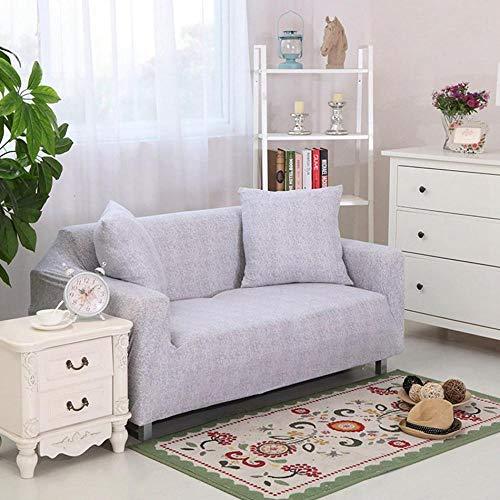 TAYIBO Sofá Funda con Funda En Forma,Funda de sofá de Flores de Color Rosa, Spandex Universal Elastic Furniture Cover-002_Double_Seat_Sofa