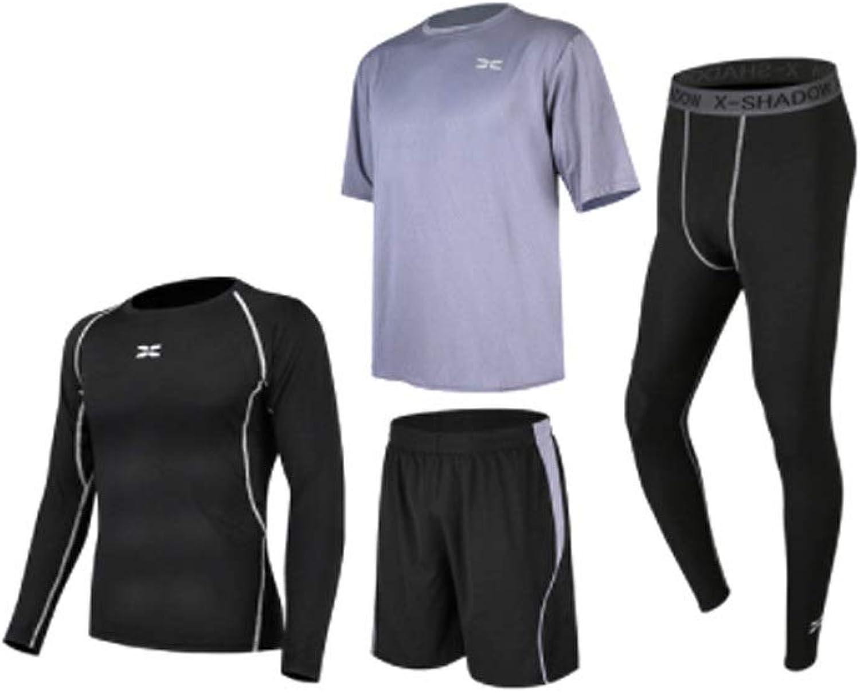 Lilongjiao Herren Fitness Wear Set Morning Run Fitness-Strumpfhose Schnell trocknender Lauftrainingsanzug