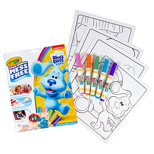 Crayola Blues Clues Color Wonder, 18 Mess Free Coloring Pages & 5 No Mess Markers, Gift for Kids