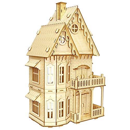Taoke 3D Holzmodel Gothic Villa-dreidimensionales Puzzle-Laserschneiden Verarbeitung-Geschenk Spielzeug for Erwachsene und Jugendliche 8bayfa
