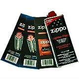 ZIPPO Lighter Fluid 1 Wick Card & 2 Flint Card (12 Flints) Gift Set, 4 oz