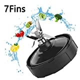 GEVIN Replacement Parts Blender, Extractor Blade Assembly with 7 Fins on Bottom For Nutri Ninja Auto iQ BL482 BL642 NN102 BL682 BL2013(7Fins)