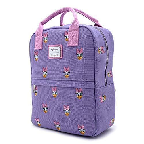 Loungefly x Disney Sensational 6 Daisy Duck AOP Canvas Mini Backpack (Multicolor, One Size)