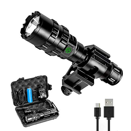 Ouesen LED Tactical Flashlight with Picatinny Mount, 1600LM Bright 5 Modes Opreated...