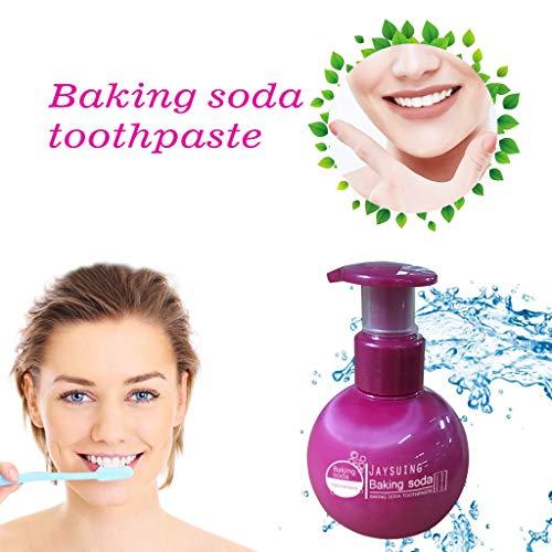 99native Stain Removal Whitening Zahnpasta, Backpulver Für weiße Zähne, Natürliche Zahnaufhellung, Aktivkohle für die Zähne, Zahnbleaching,Verhindert Karies und stärkt Zähne und Zahnfleisch (Lila)