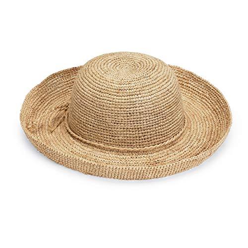 Wallaroo Hat Company Women's Catalina Sun Hat – Modern Handwoven, Twisted Natural Raffia, Wide Brim, Designed in Australia, Natural