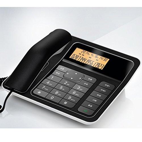 Téléphone Liuyu · Maison de Vie Bureau Fixe Famille Mode Affaires (Color : Black)