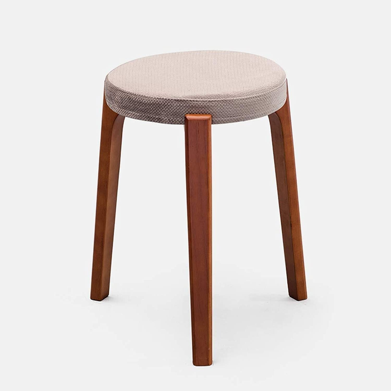 Creative Small Stool, Solid Wooden Dining Stool, Square Stool, Dressing Stool, Simple Fashionable Dressing Stool, Bench, Household Stool, Brown Leg 9 GMING (Size   31  45cm)