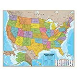 ROUND WORLD PRODUCTS Kaplan Early Learning Laminated US Map