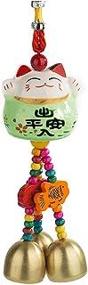 YGMONER Maneki Neko Lucky Cat Pingente de Porcelana para Carro Pingente para Pendurar (Verde)
