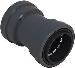"Southwire LTNM-CP-050 1/2"" Liquid Tight Non-Metallic Push Install LT Coupling, Gray"