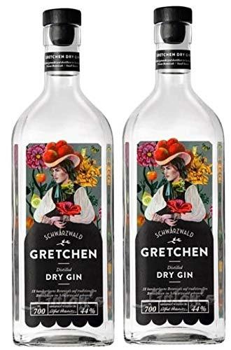 2 Flaschen Gretchen Gin a 0,7 L 44% vol. Schladerer