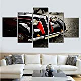 VLONESUN Print HD Set Cool Car Abstract para Paintings su Canvas Wall Art Landscape-(20x35 20x45 20x55cm)-5 Piezas Enmarcado de Madera