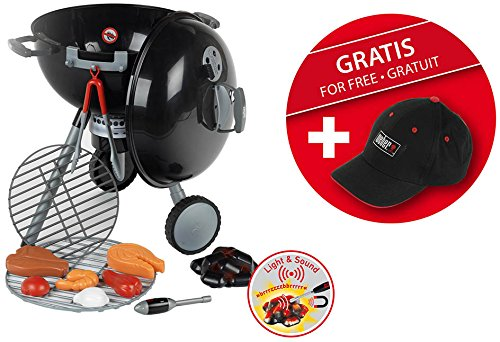 Theo Klein 9429 - Kugelgrill-Set Weber One Touch mit Basecap