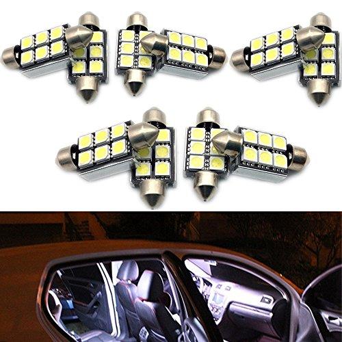 PolarLander 10pcs 6SMD Canbus 36m m 5050 LED DE3425 6418 C5W llevó Las Luces de la bóveda Luces de la matrícula Que abastecían la lámpara de la lámpara de Las lámparas de la Lectura