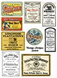 Assorted Vintage Ephemera #103 Vintage Label Images on Collage Sheet for Photo Art, Scrapbooking, Collage, Decoupage