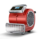 Multi-Purpose Mini Mighty Air Mover, Utility Fan, Dryer, Blower with Power Outlets and Timer for Restoration, Cleaning, Home and Plumbing Use - 1/4 HP, 900 CFM, 3 Speeds, 3 Angles, Red, Small