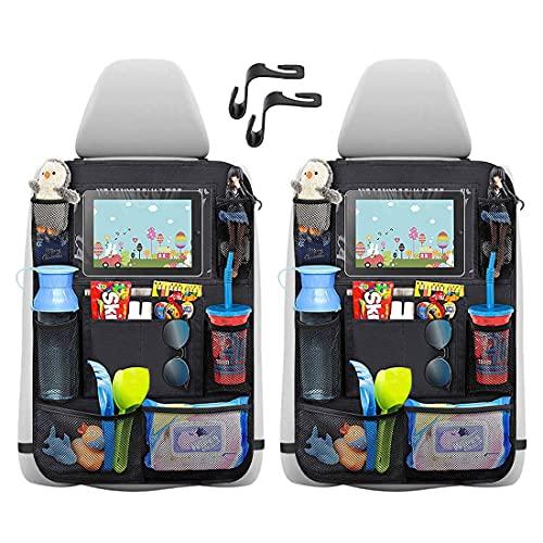 Protezione Sedile Auto,2pcs Organizzatore Sedile Posteriore Auto Proteggi Impermeabile Organizer Bambino per Sedile Auto con Multi-Tasca...