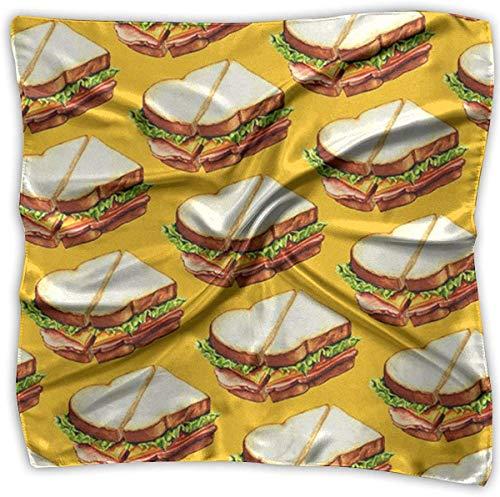 Sandwich Patroon Dames Elegante Vierkante Zakdoek Polyester Nek Hoofd Sjaal