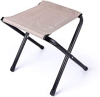 BGHF Campingstuhl Camping Stuhl Tragbare Falten Outdoor Angeln Stuhl Leinwand Hocker Picknick Party Strand Stuhl (Farbe : Beige)