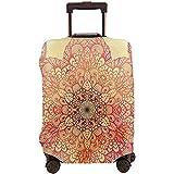 Funda de Equipaje de Viaje Mágico Antiguo Dibujado a Mano Bloom con pétalos remolinados Protector de Maleta Retro Oriental Tamaño L