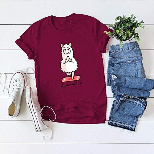 ADSIKOOJF S-5XL bedrukt dames t-shirt van 100% katoen met schaap-print