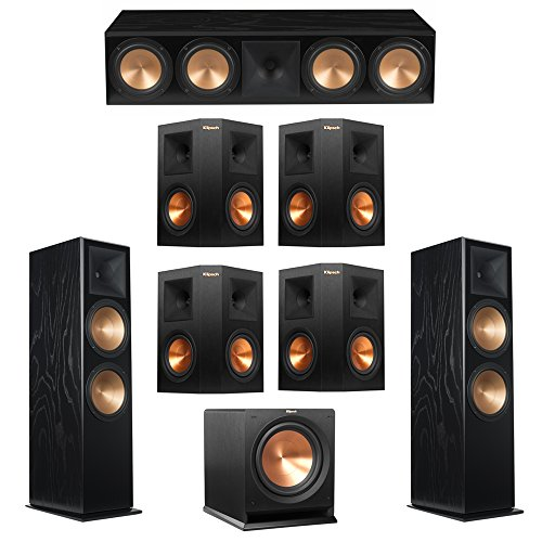 Buy Discount Klipsch 7.1 Black Ash System with 2 RF-7 III Floorstanding Speakers, 1 RC-64 III Center...