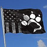 Elaine-Shop Banderas al Aire Libre desgastadas Bandera de EE. UU. Labrador Retriever Paw-1 4 * 6 Ft Bandera para decoración del hogar Fanático de los Deportes Fútbol Baloncesto Béisbol Hockey